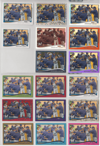 17 different variations of Jonathan Lucroy's 2014 Topps card.