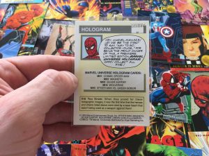 Year can be found on the back of the Marvel card, near the copyright.