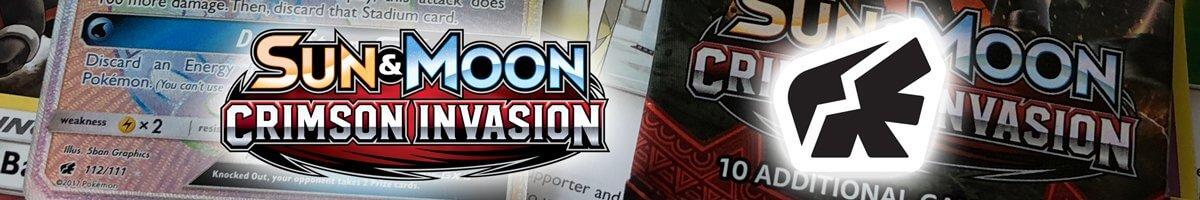 Pokemom Sun and Moon Crimson Invasion set list