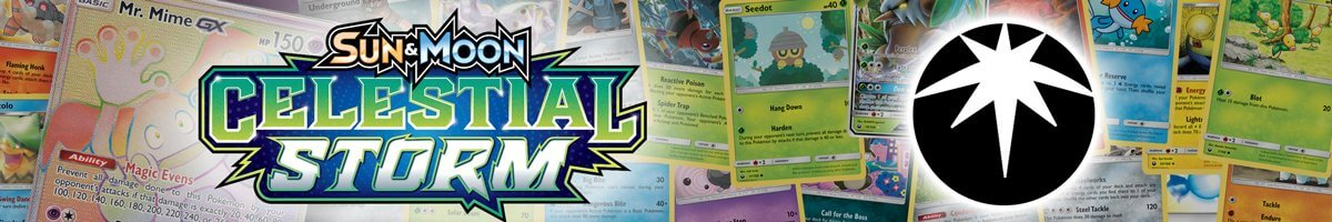 Pokemon Sun and Moon Celestial Storm set list