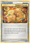 HeartGold and SouldSilver Call of Legends card 84