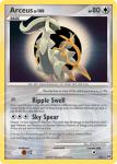 Platinum Arceus card AR5