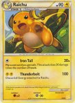 Pokemon HeartGold & SoulSilver Trainer Kit Raichu deck card 30