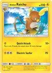 Pokemon Sun and Moon Trainer Kit Alolan Raichu deck card 17