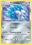 Pokemon Sun and Moon Trainer Kit Alolan Sandslash deck card 30