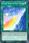 Yugioh banned list card Divine Wind of Mist Valley