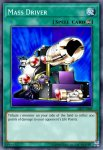 Yugioh banned list card Mass Driver