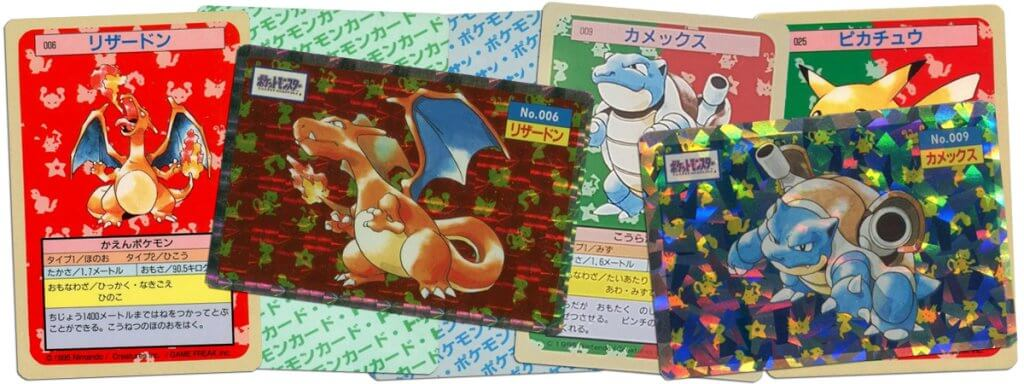 Japanese Topsun Pokemon cards