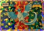 Articuno Holo Pokemon Topsun card number 144