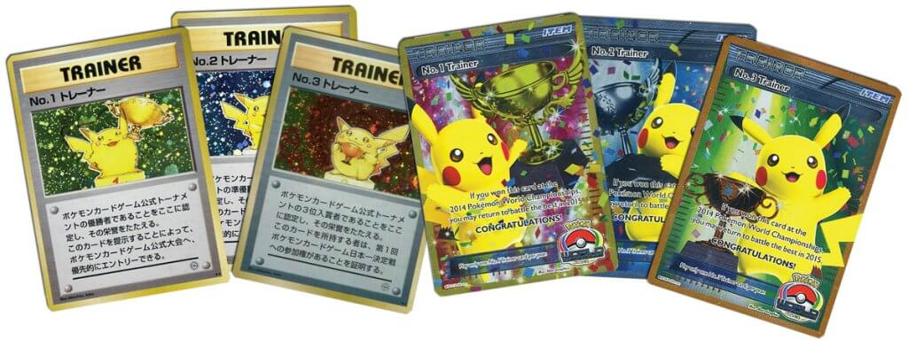Pikachu Trainer Trophy cards from World Championship