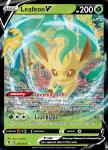 Pokemon Evolving Skies card 007/203 Leafeon V