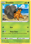 Pokemon Evolving Skies card 011/203 Dwebble