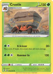 Pokemon Evolving Skies card 012/203 Crustle