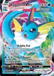 Pokemon Evolving Skies card 030/203 Vaporeon VMAX