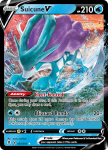 Pokemon Evolving Skies card 031/203 Suicune V