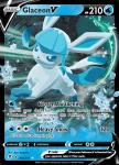 Pokemon Evolving Skies card 040/203 Glaceon V