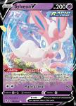 Pokemon Evolving Skies card 074/203 Sylveon V
