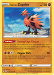 Pokemon Evolving Skies card 082/203 Galarian Zapdos