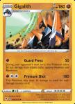 Pokemon Evolving Skies card 088/203 Gigalith