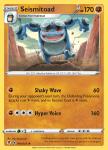 Pokemon Evolving Skies card 090/203 Seismitoad