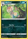Pokemon Evolving Skies card 096/203 Nuzleaf