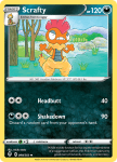 Pokemon Evolving Skies card 099/203 Scrafty