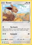 Pokemon Evolving Skies card 125/203 Eevee