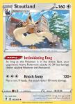 Pokemon Evolving Skies card 135/203 Stoutland