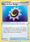 Pokemon Evolving Skies card 151/203 Moon & Sun Badge
