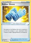 Pokemon Evolving Skies card 156/203 Rubber Gloves