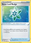 Pokemon Evolving Skies card 159/203 Snow Leaf Badge