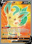 Pokemon Evolving Skies card 166/203 Leafeon V