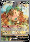 Pokemon Evolving Skies card 167/203 Leafeon V