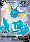 Pokemon Evolving Skies card 172/203 Vaporeon V