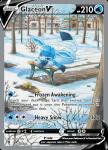 Pokemon Evolving Skies card 175/203 Glaceon V