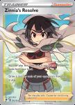 Pokemon Evolving Skies card 203/203 Zinnia's Resolve