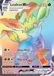 Pokemon Evolving Skies card 204/203 Leafeon VMAX
