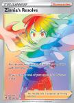 Pokemon Evolving Skies card 225/203 Zinnia's Resolve